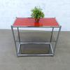 Etagère en verre  en métal - verre  77x37x75cm - Argenté et Rouge