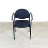 Chaise rembourrée  en métal  47x58x80cm - Noir