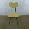 Chaise primaire   en mélamine - métallique  41x38x79cm - Blanc