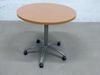 Table de réunion petite 4 places Steelcase en mélamine - métallique  80x80x71cm - Marron et Gris