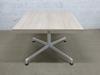 Table carré 4 places Steelcase en mélamine - métallique  90x90x75cm - Ecru et Blanc