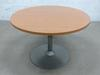 Table ronde de réunion  en mélamine - métallique  110x110x72cm - Marron