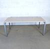 Bureau 180cm  en mélamine - métallique finition frêne 180x80x70cm - Marron et Gris