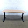Bureau 160cm  en mélamine - métallique finition hêtre 160x80x73cm - Marron