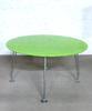 Table ronde de réunion  en verre  130x130x70cm - Vert