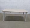 Bureau 160cm Steelcase en mélamine - métallique finition bouleau 160x80x70cm - Blanc