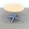 Table restauration 4 places   en mélamine - métallique  90x90x74cm - Marron et Gris