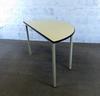 Table murale  en mélamine - métallique  60x120x75cm - Blanc et Noir