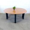 Table de réunion moyenne 8 places  en mélamine - métallique  160x142x72cm - Marron