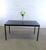Table 4 pieds  en mélamine  70x140x75cm - Noir