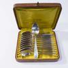 12 cuillères à dessert métal argenté