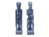 Deux statuettes africaines en bois noir