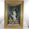 Atypique : grande horloge lumineuse licorne faite à la main avec diorama