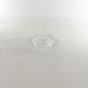 Boite en forme de coeur en cristal d'Arques se divisant en deux coupelles/cendriers