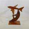 Ancienne maquette d'avion soviétique vintage en bois
