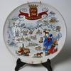 Assiette Décorative en Porcelaine de la Normandie