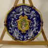 Ancienne assiette K&G Lunéville décor heaume médiéval héraldique