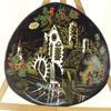 Assiette de collection des émaux de Longwy décor moulin