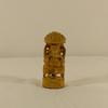 Figurine en bois sculpté style netsuke asiatique éléphant