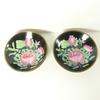 Lot de 2 petites assiettes décoratives chinoises motif lotus