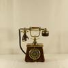 Ancien téléphone à cadran vintage en Onyx fabriqué en Italie