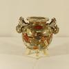 Ancien pot ou vase brûle-parfum tripode japonais en faïence Satsuma