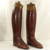 Anciennes bottes de cheval d'officier militaria homme pointure 44 avec formes en bois