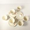 Lot de 6 tasses à café avec soucoupes chinois décor fleurs