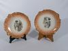 2 assiettes déco Porcelaine de Limoges