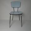 Lot de 2 chaises bleues TUBLAC en formica des années 60