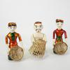 Lot de 3 figurines en bois chinois