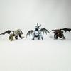 Lot de 3 Dragons Articulable