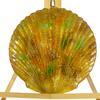 Grand plateau de service ou de décoration murale Laque Line en verre émaillé fabriqué en France forme coquillage