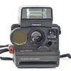 Appareil photo vintage Polaroid Land Camera Sonar autofocus 5000 avec flash polatronic 5 et sacoche de transport