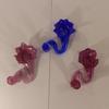 Lot de 3 porte-bougie en forme de fleur