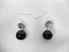 Boucles d'oreille en verre noir - MANZABULL
