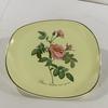 Assiette céramique Salins  - décor rosier