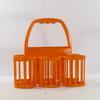 Ancien panier ou casier à bouteilles en plastique vintage orange