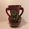 Potiche / vase vintage rouge et vert