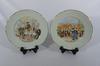 2 assiettes en porcelaine de Limoges Kanterbrau