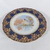 Assiette déco porcelaine de Limoges réhaussée main
