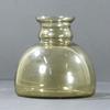 Vase vintage en verre fumé