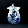 Vase soufflé bouche en pâte de verre multicolore