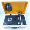 Mallette tourne-disque vinyle vintage Grundig PL115 orange avec haut-parleur intégré