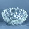 Coupe forme pétales en cristal moulé