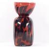 Vintage grand vase en pâte de cristal coloré soufflé bouche