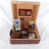 Boîte à cigares avec hygromètre et humidificateur