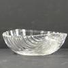 Coupe en verre moulé forme coquillage style Art Déco
