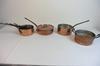 Set de 8 casseroles Célia en cuivre fabriquées en France