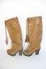 Botte à Pompons de couleur marron clair Yves Saint Laurent pour femme